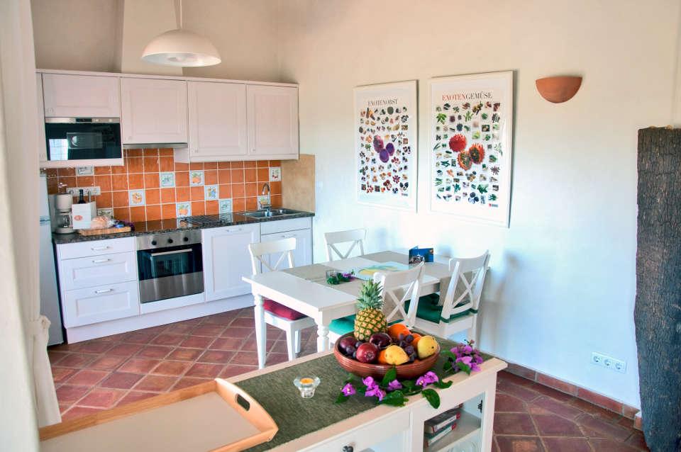Die Küche der Ferienwohnung des apartamento este | Algarve Urlaub