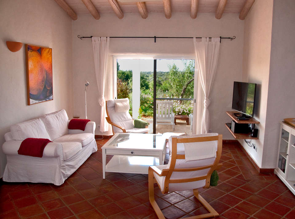 Ferienwohnung Wohnzimmer Terrassentür Apartamento Este Casa Ria
